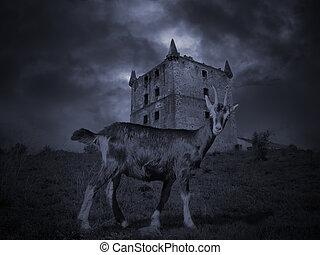 misterioso, medievale, goat
