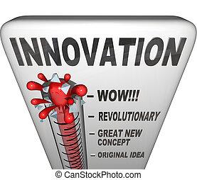 misurato, -, innovazione, livello, invenzione, nuovo, termometro