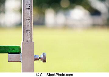 misurazione, alto, atletica, salto