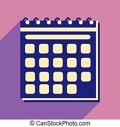 mobile, calendario, icona, domanda, uggia, appartamento