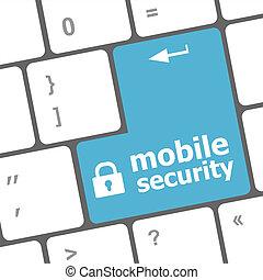 mobile, computer portatile, chiave, tastiera, sicurezza