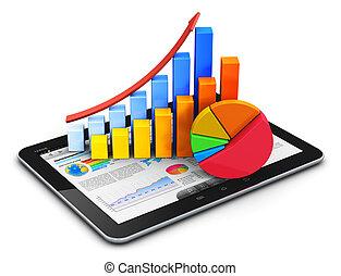 mobile, concetto, finanza, statistica, contabilità