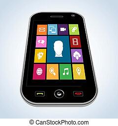 mobile, domanda, diversità, persone