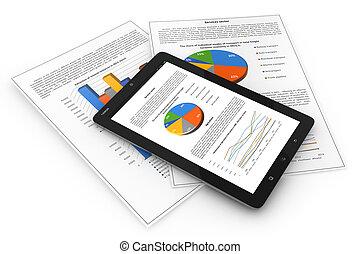 mobile, finance., concetto, affari