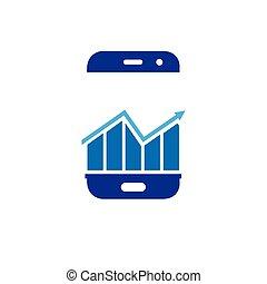 mobile, grafico, grafico, telefono, vettore, logotipo, far male, icona