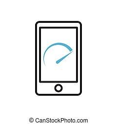 mobile, icon., smartphone, benchmark