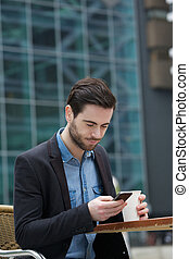 mobile, invio, messaggio, telefono, testo