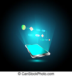 mobile, tecnologia, affari, processo