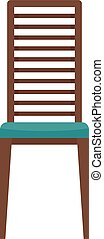 mobilia, icona, isolato, sedia, esterno, vettore, appartamento