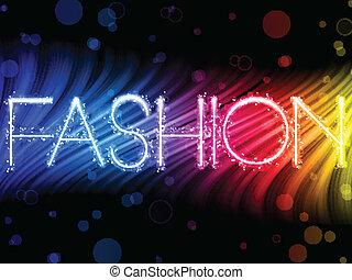 moda, colorito, astratto, sfondo nero, onde