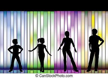 moda, fondo, colorito, famiglia, mostra