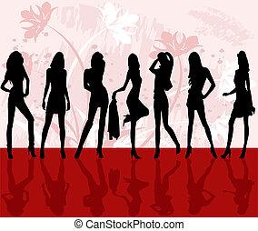 moda, ragazze