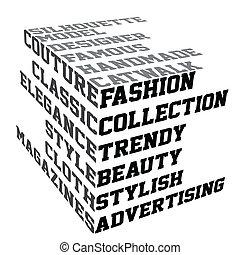 moda, termini, tipografia