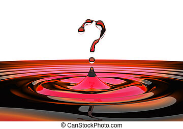 modellato, concept., faq, gocce acqua, simbolo