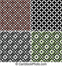 modelli, geometrico, set, seamless, (