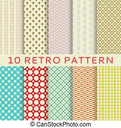 modelli, retro, differente, seamless, (tiling)., vettore