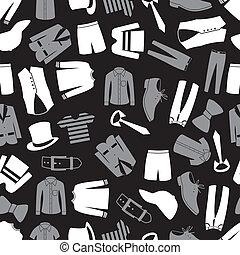 modello, abbigliamento, seamless, eps10, mens