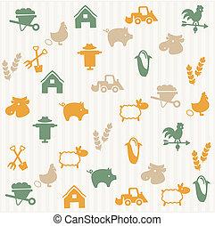 modello, agricoltura, seamless