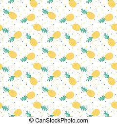 modello, ananas, seamless