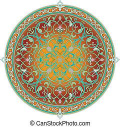 modello, arabo, motivo, floreale
