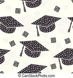 modello, astratto, berretto, seamless, graduazione, fondo