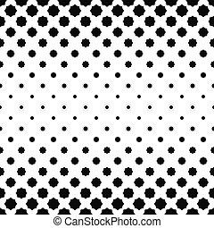 modello, astratto, ottagono, nero, curvo, bianco