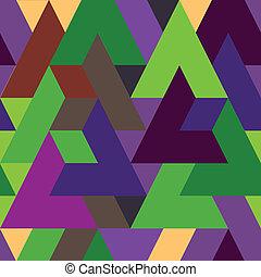 modello, astratto, triangolo, colorito, fondo