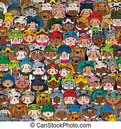 modello, bambini, colorato