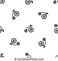 modello, bicicletta, nero, bambini, seamless