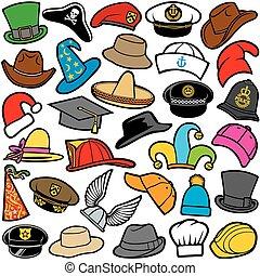 modello, cappelli, seamless