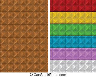 modello, colorito, geometrico, quadrato, seamless, set