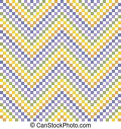 modello, colorito, zigzag