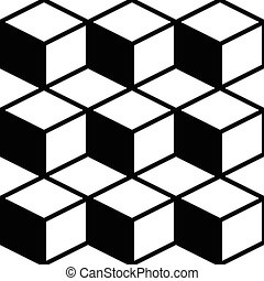 modello, cubo, seamless, striscia