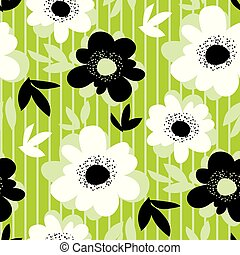 modello fiore, moderno, seamless, verde, fresco