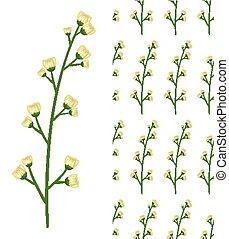 modello, fiori bianchi, seamless