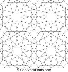 modello, geometrico, bianco, seamless