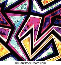 modello, geometrico, diamante, seamless