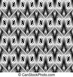modello geometrico, monocromatico, disegno, seamless