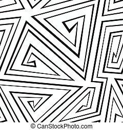 modello, geometrico, monocromatico, seamless