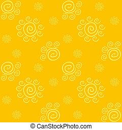modello, giallo, solare