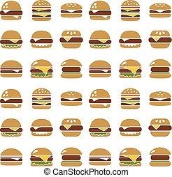 modello, hamburger, seamless