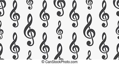 modello, illustration., g-clef, background.vector