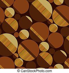 modello, legno, rotondo, colori, seamless, marrone, forme
