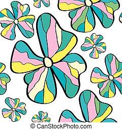 modello, macchiato, fiore, vetro, seamless