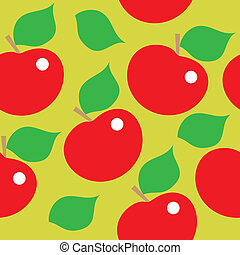 modello, mele, rosso, seamless