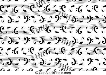 modello, note, musicale