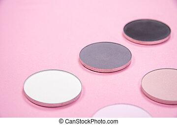 modello, ombre, colori, sfondo rosa, occhio, differente