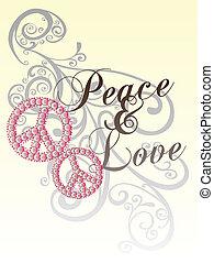 modello, pace, amore, rotolo