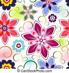 modello, seamless, floreale