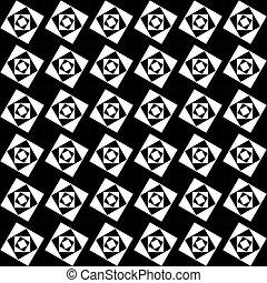 modello, seamless, fondo., nero, bianco, squadre